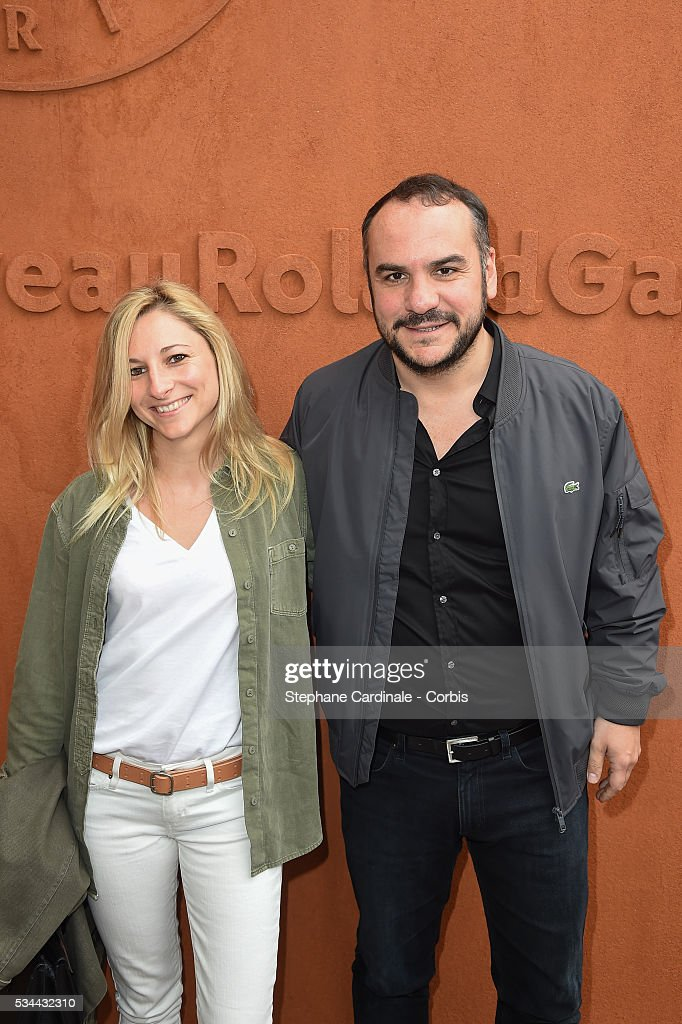 Anais Tihay and Actor <a gi-track='captionPersonalityLinkClicked' href=/galleries/search?phrase=Francois-Xavier+Demaison&family=editorial&specificpeople=4880398 ng-click='$event.stopPropagation()'>Francois-Xavier Demaison</a> attend day five of the 2016 French Open at Roland Garros on May 26, 2016 in Paris, France.
