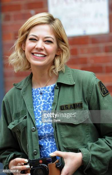 Analeigh Tipton seen on the set of television series 'Manhattan Love Story' on August 5 2014 in New York City