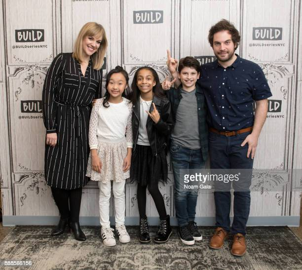 Analisa Leaming Olivia Chun Gabrielle Greene Zachary Zwelling and Justin Collette visit Build Series to discuss the 2nd anniversary of 'School Of...