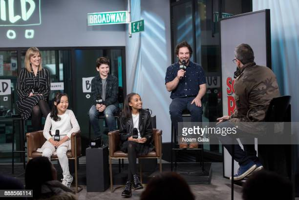 Analisa Leaming Olivia Chun Zachary Zwelling Gabrielle Greene and Justin Collette visit Build Series to discuss the 2nd anniversary of 'School Of...