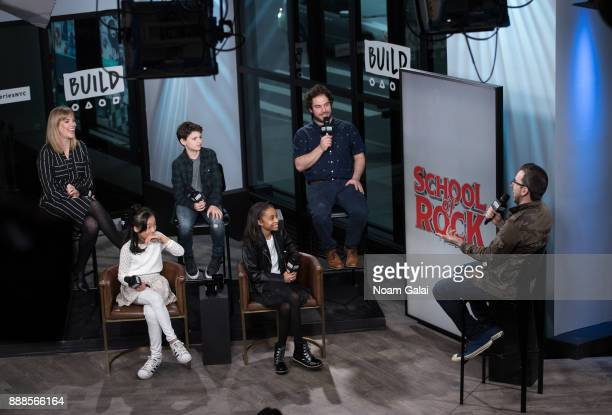 Analisa Leaming Olivia Chun Zachary Zwelling Gabrielle Greene Justin Collette and Matt Forte visit Build Series to discuss the 2nd anniversary of...