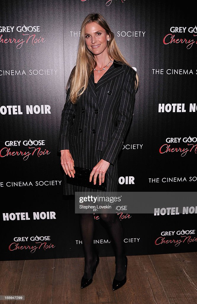 Analise Peterson attends the Gato Negro Films & The Cinema Society screening of 'Hotel Noir' at Crosby Street Hotel on November 9, 2012 in New York City.