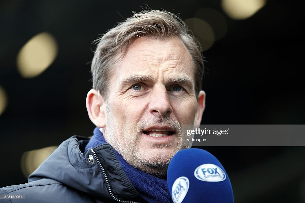 analist Ronald de Boer of FOX Sports during the Dutch Eredivisie match between ADO Den Haag and AZ on april 21, 2016 at the Kyocera stadium in The Hague, the Netherlands