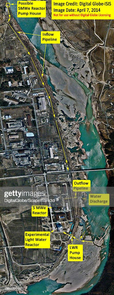 ISIS analysis of Digital Globe imagery showing North Koreas Yongbyon 5 megawattelectric and experimental light water reactors and the respective...