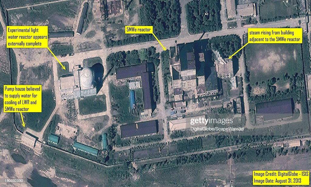 ISIS analysis of DigitalGlobe Imagery from August 31 2013 showing steam venting from building adjacent to 5MWe Yongbyon reactor