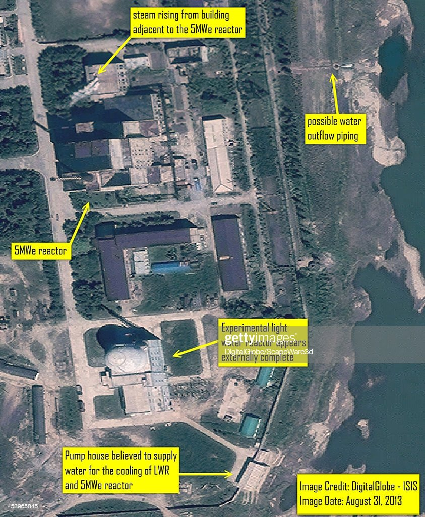 ISIS analysis of DigitalGlobe Imagery from August 31 2013 showing steam venting from building adjacent to 5MWe Yongbyon reactor and the status of...