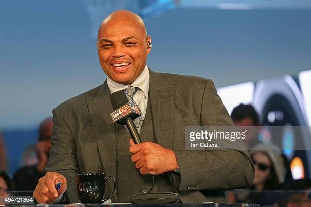 Analyst Charles Barkley talks during the Opening Night Tipoff of 201516 season for NBA on TNT on October 27 2015 at Pier 39 in Oakland California...