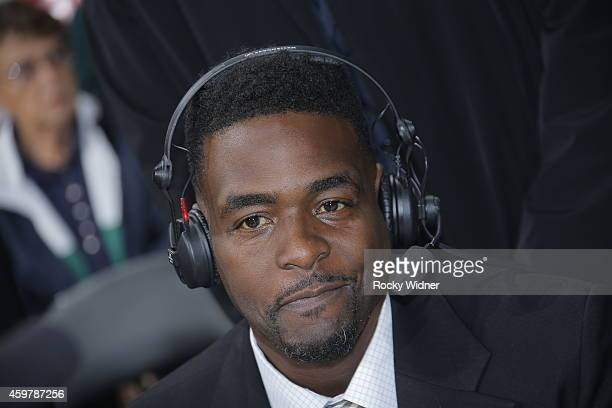 NBA analyst Chris Webber during the game between the Chicago Bulls and Sacramento Kings on November 20 2014 at Sleep Train Arena in Sacramento...