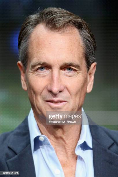Analyst Cris Collinsworth speaks onstage during NBC's 'Sunday Night Football' panel discussion at the NBCUniversal portion of the 2015 Summer TCA...