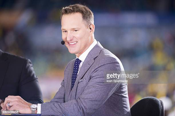 ESPN analyst Danny Kanell smiles during the ESPN College Football Pregame Show for the NCAA Capital One Orange Bowl football game between the...