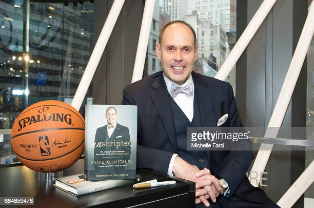 Analyst Ernie Johnson appears at the NBA Store for a signing of his new book 'Unscripted' in New York New York on April 4 2017 NOTE TO USER User...