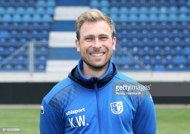 Analyst Kevin Waliczek poses during the team presentation of 1 FC Magdeburg at MDCCArena on July 13 2017 in Magdeburg Germany