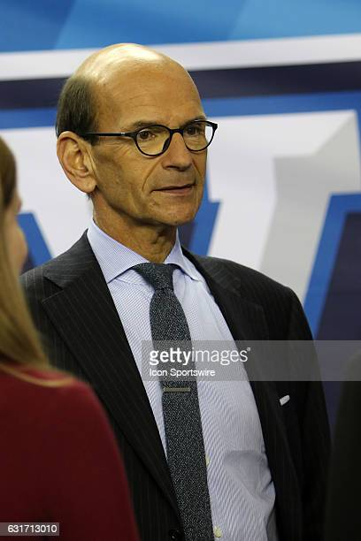 Analyst Paul Finebaum at the College Football Playoff Semifinal at the ChickfilA Peach Bowl between the Washington Huskies and the Alabama Crimson...