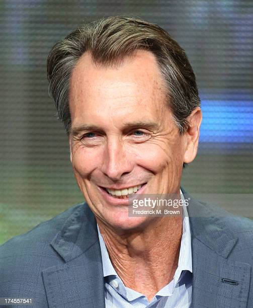 Analyst Sportscaster Cris Collinsworth speaks onstage during the 'Sunday Night Football' panel discussion at the NBC portion of the 2013 Summer...