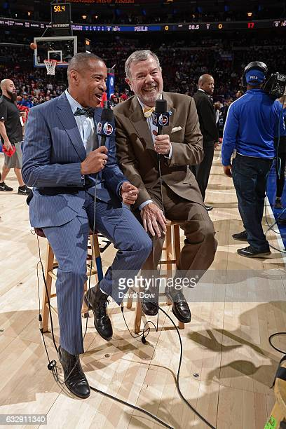 Analysts Mark Jones and PJ Carlesimo report live from the Houston Rockets game against the Philadelphia 76ers at Wells Fargo Center on January 27...