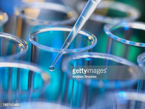 Analytical Chemistry Sample Being Pipetted Into Test Tube For