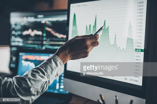 Analyzing data. : Stock Photo