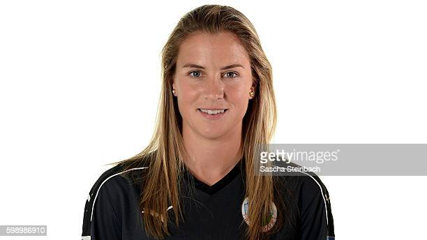AnaMaria Crnogorcevic of 1 FFC Frankfurt poses during the Allianz Women's Bundesliga Club Tour on September 2 2016 in Frankfurt Germany