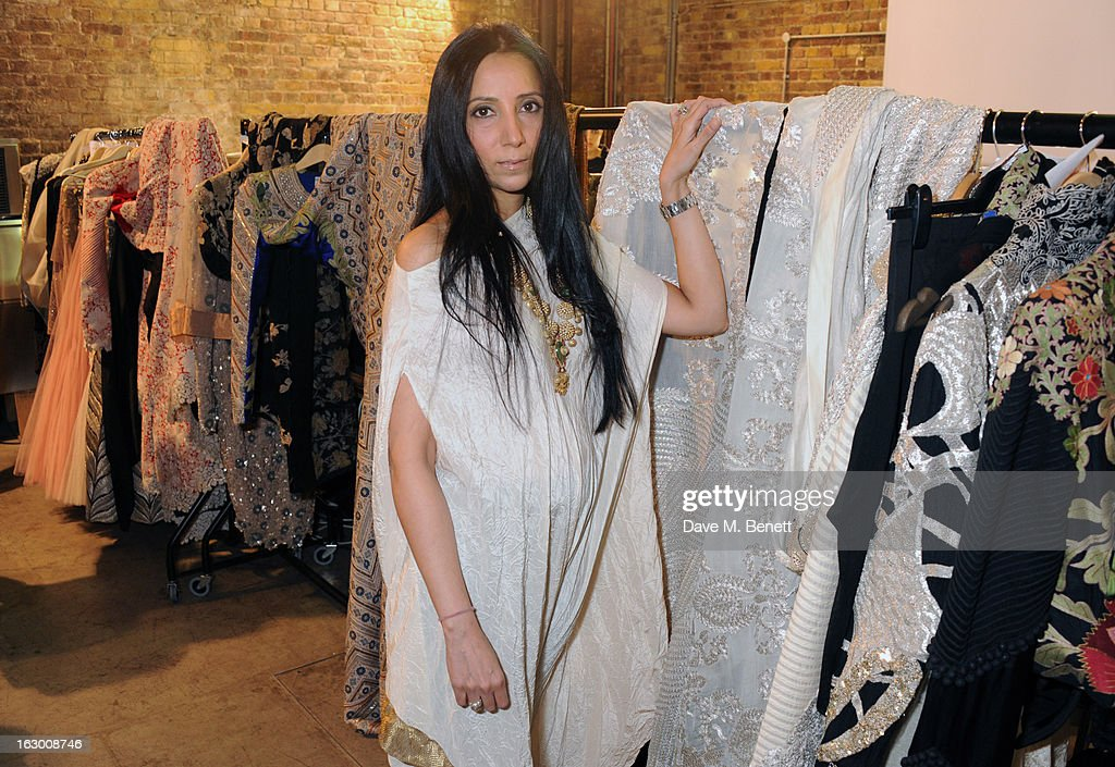 Anamika Khanna attends a Fashion Gala fundraiser hosted by the Akshaya Patra Foundation for underpriveleged children in India, at Vinopolis, on March 2, 2013 in London, England.