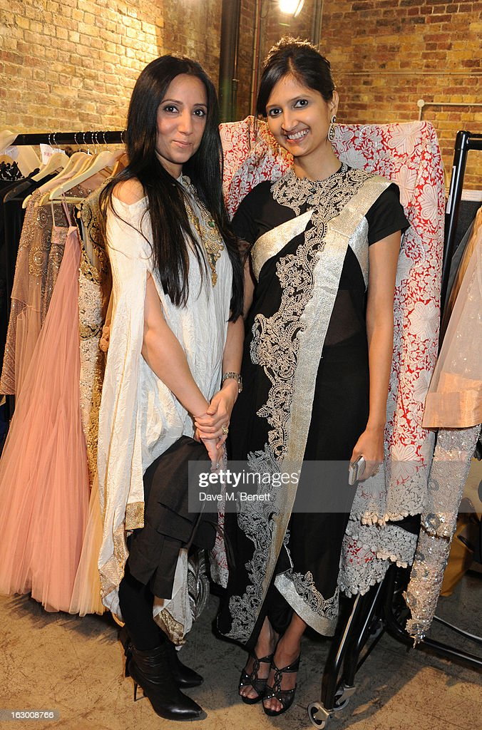 Anamika Khanna, Dipika Khaitan attend a Fashion Gala fundraiser hosted by the Akshaya Patra Foundation for underpriveleged children in India, at Vinopolis, on March 2, 2013 in London, England.