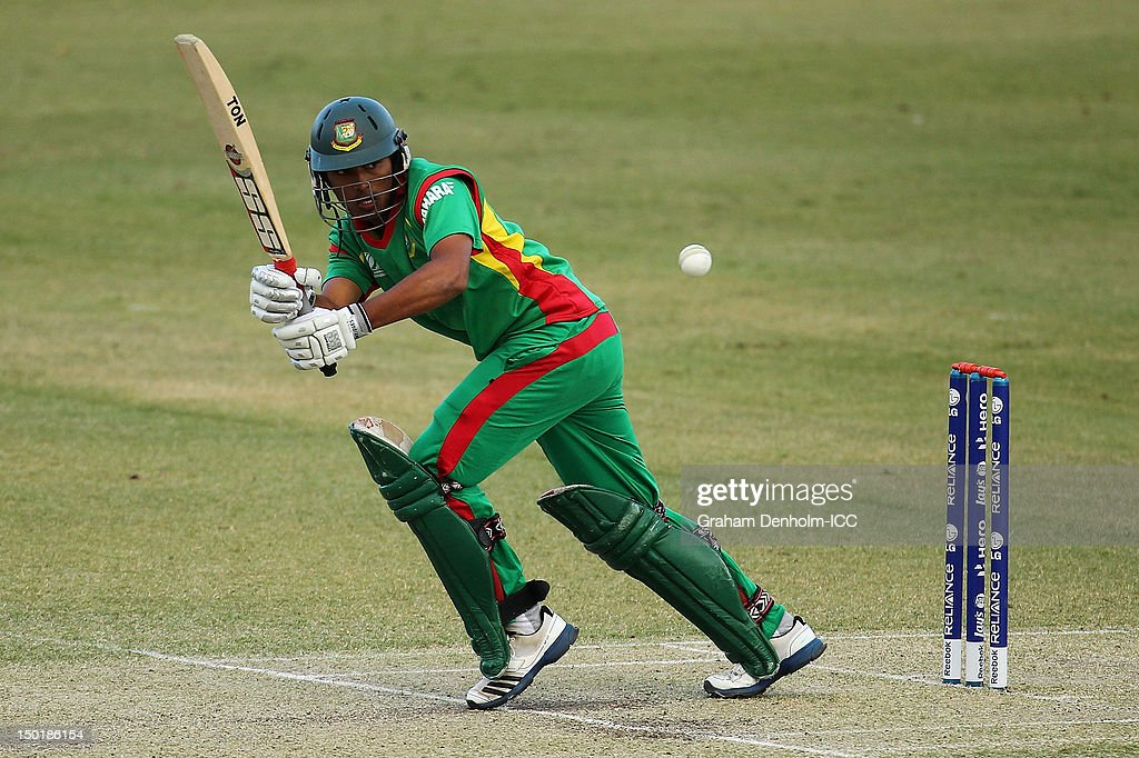 Anamul Haque of Bangladesh bats during the ICC U19 Cricket World Cup 2012 match between South Africa and Bangladesh at Allan Border Field on August 12, 2012 in Brisbane, Australia.