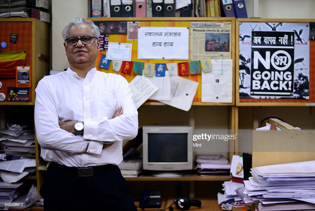 Anand Grover, lawyer who fought and won the NALSA judgment that gave third gender status to transgenders in India photographed at HIV/AIDS Unit on November 3, 2014 in New Delhi, India.