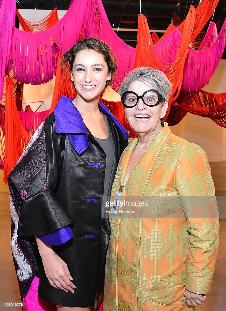 Ananda DeMello and Bernice Steinbaum attend the Art Miami after party at Bakehouse Art Complex on December 8, 2012 in Miami, Florida.
