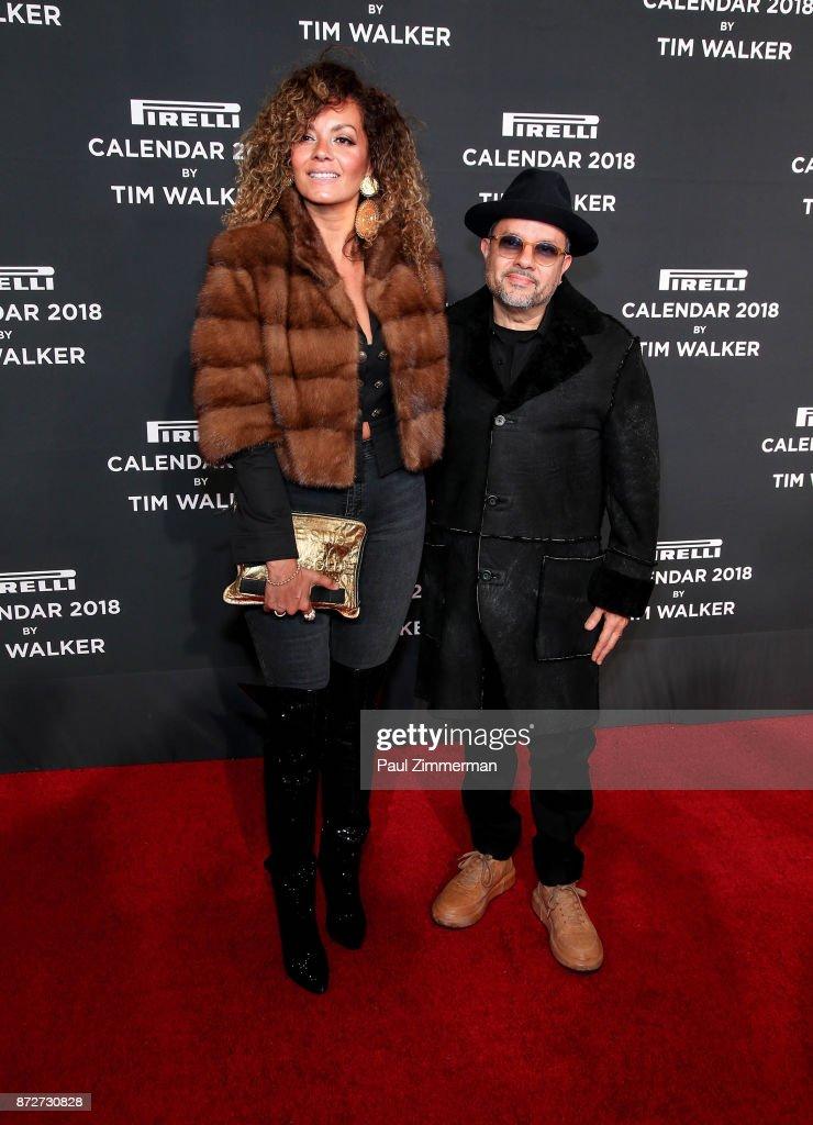 Anane Vega and Louie Vega attend Pirelli Calendar 2018 Launch Gala at The Manhattan Center on November 10, 2017 in New York City.