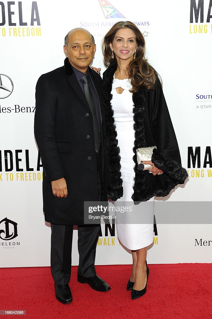 Anant Singh and Vanashree Singh attend the New York premiere of