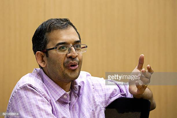 Ananth Narayanan chief executive officer of Myntracom a unit of Flipkart Internet Services Pvt speaks during an interview at the company's office in...