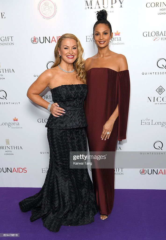 Anastacia and Alesha Dixon attend the Global Gift Gala in partnership with Quintessentially on November 19, 2016 at the Corithinia Hotel in London, United Kingdom.