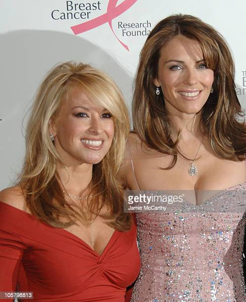 Anastacia and Elizabeth Hurley during The Breast Cancer Research Foundation Presents The Very Hot Pink Party at The Waldorf Astoria in New York City...