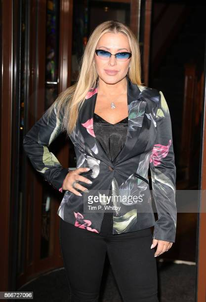 Anastacia attends the Anastacia x Arctic Circle Diamond launch party held at Sanctum Soho Hotel on October 26 2017 in London England The event...