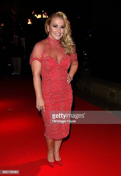 Anastacia attends the Emeralds Ivy Ball in aid of Cancer Research UK and the Marie Keating Foundation at Embankment Gardens on December 5 2015 in...