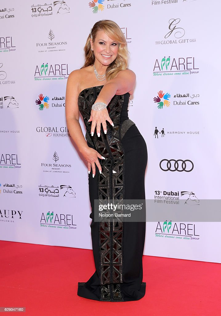 Anastacia attends the Global Gift Gala during day six of the 13th annual Dubai International Film Festival held at the Four Seasons Hotel on December 12, 2016 in Dubai, United Arab Emirates.