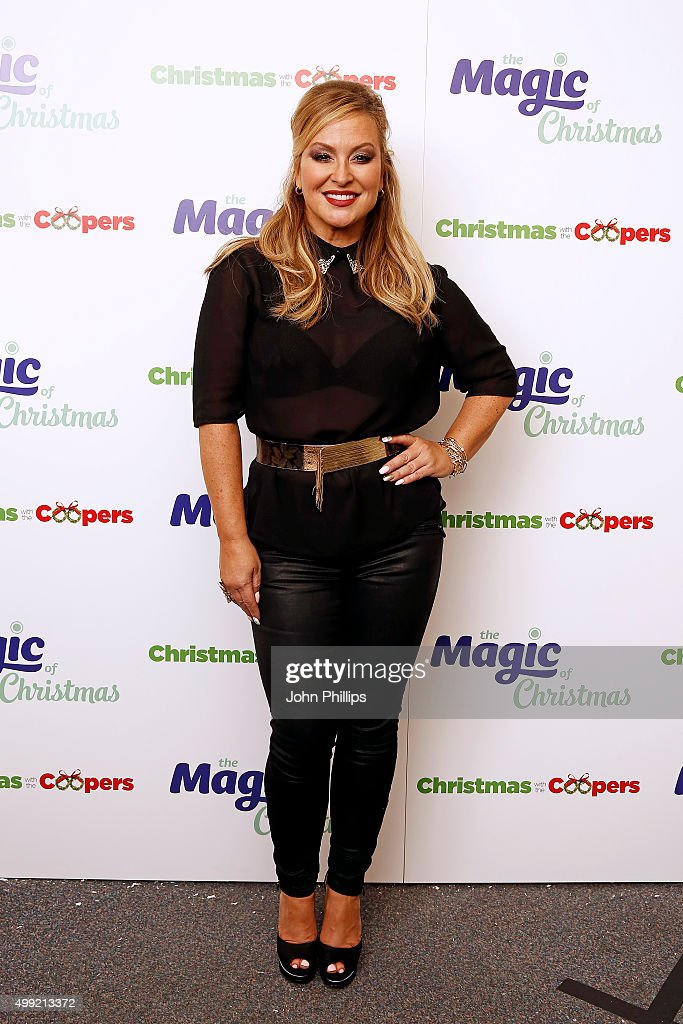 Anastacia backstage at Magic Radios festive concert The Magic of Christmas at London Palladium on November 29 2015 in London England