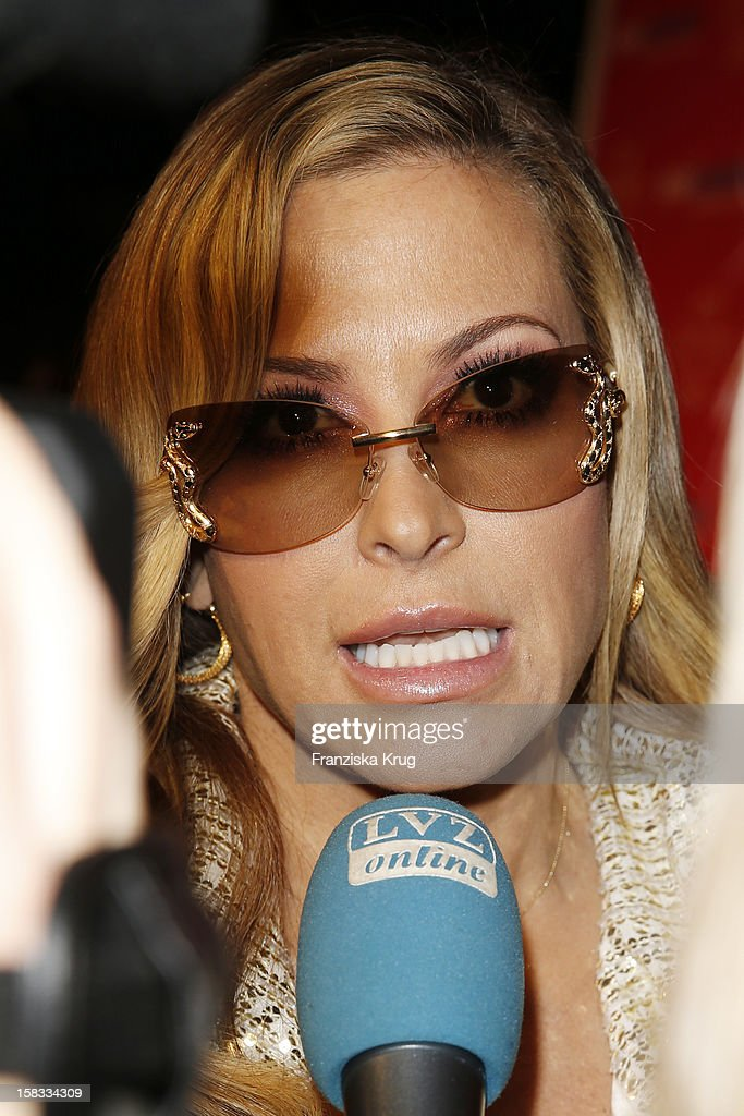 Anastacia gives an interview at the 18th Annual Jose Carreras Gala on December 13, 2012 in Leipzig, Germany.