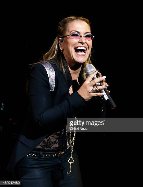 Anastacia performs at 02 Shepherd's Bush Empire on January 23 2015 in London England