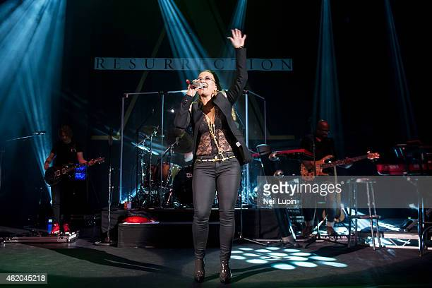 Anastacia performs on stage at Shepherds Bush Empire on January 23 2015 in London United Kingdom
