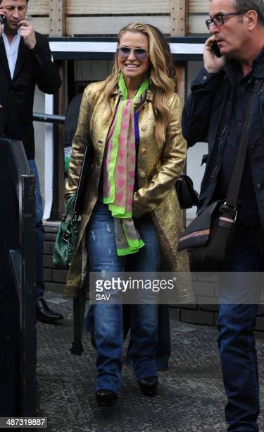 Anastacia pictured at the ITV studios on April 29 2014 in London England