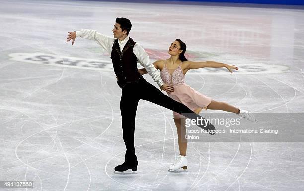 Anastasia Cannuscio and Colin McManus of the US skate in the ice dance during day two of the Progressive Skate America ISU Grand Prix of Figure...