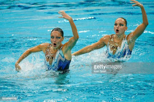 Anastasia DAVYDOVA / Anastassia ERNAKOVA Finale de la natation synchronisee Jeux Olympiques Pekin