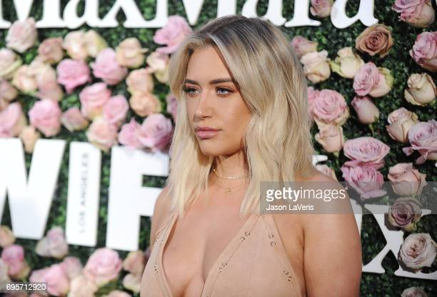 Anastasia Karanikolaou attends Max Mara and Vanity Fair's celebration of Women In Film's Face of the Future Award recipient Zoey Deutch at Chateau...