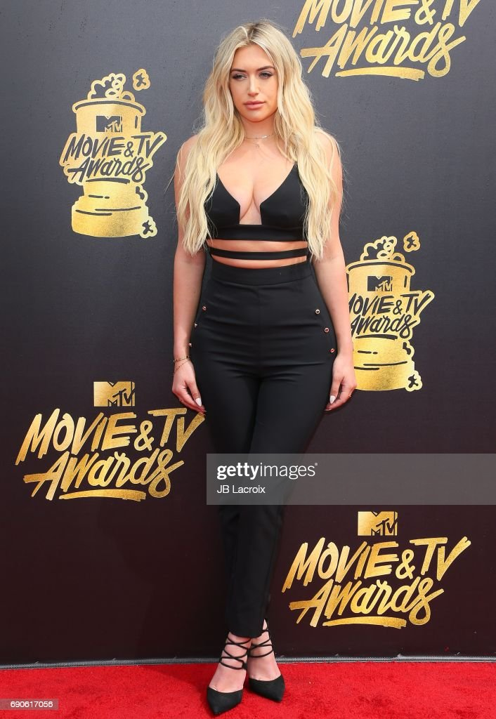 Anastasia Karanikolaou attends the 2017 MTV Movie and TV Awards at The Shrine Auditorium on May 7, 2017 in Los Angeles, California.