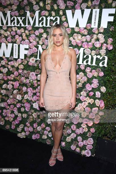Anastasia Karanikolaou attends the Max Mara Celebrates Zoey Deutch As The 2017 Women In Film Max Mara Face Of The Future Award Recipient event at...