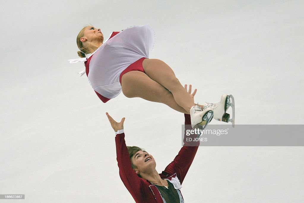 Anastasia Martiusheva and Alexei Roganov of Russia compete during the Pairs Free Skating event of the Cup of China ISU Grand Prix Figure Skating in Beijing on November 2, 2013. Martiusheva and Roganov 147.19 for 7th place.