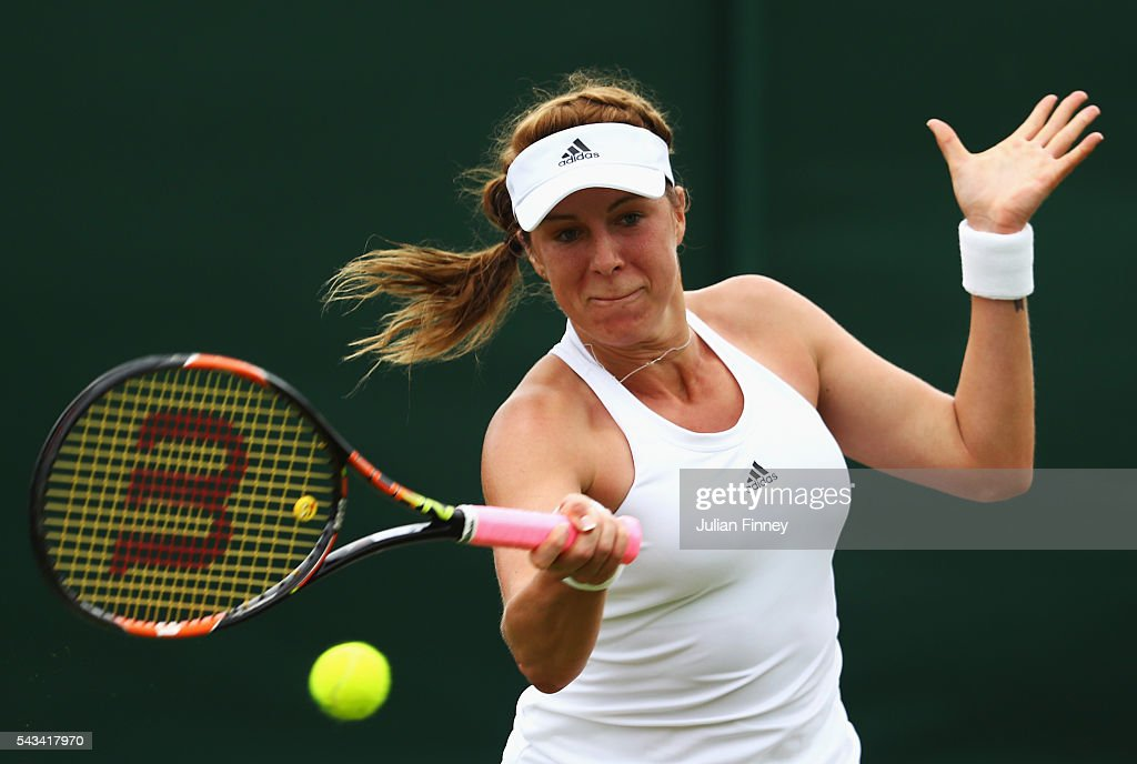 <a gi-track='captionPersonalityLinkClicked' href=/galleries/search?phrase=Anastasia+Pavlyuchenkova&family=editorial&specificpeople=579686 ng-click='$event.stopPropagation()'>Anastasia Pavlyuchenkova</a> of Russia plays a forehand during the Ladies Singles first round match against Su-Wei Hsieh of Taiwan plays a forehand on day two of the Wimbledon Lawn Tennis Championships at the All England Lawn Tennis and Croquet Club on June 28, 2016 in London, England.