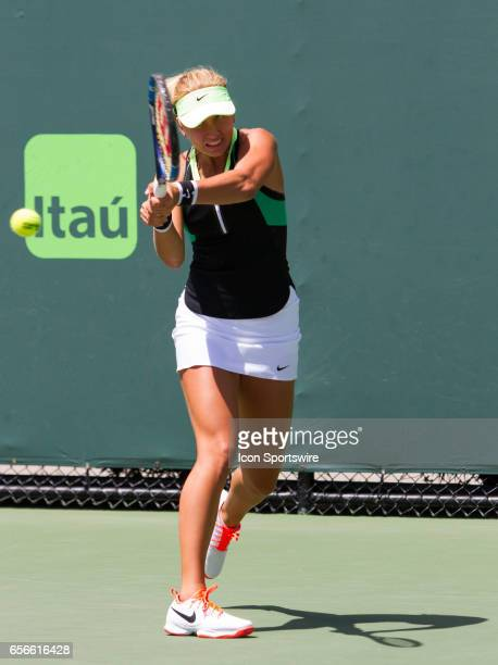 Anastasia Potapova during the qualifying round of the 2017 Miami Open on March 20 at Tennis Center at Crandon Park in Key Biscayne FL