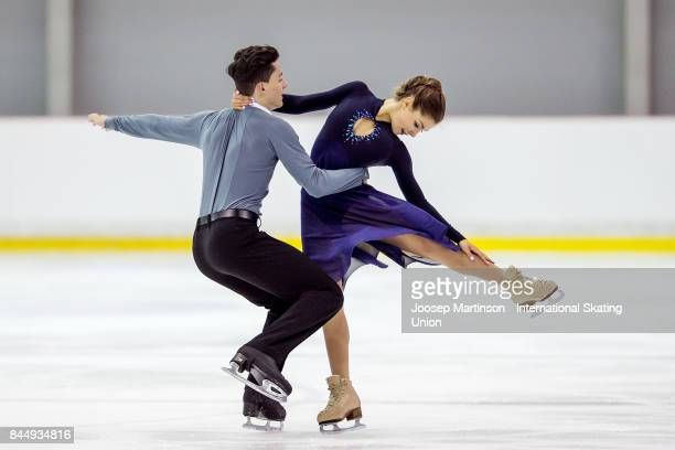 Anastasia Shpilevaya and Grigory Smirnov of Russia compete in the Junior Ice Dance Free Dance during day 3 of the Riga Cup ISU Junior Grand Prix of...