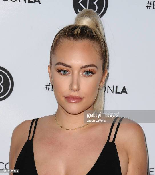 Anastasia 'Stassie' Karanikolaou attends the 5th annual Beautycon festival at Los Angeles Convention Center on August 13 2017 in Los Angeles...